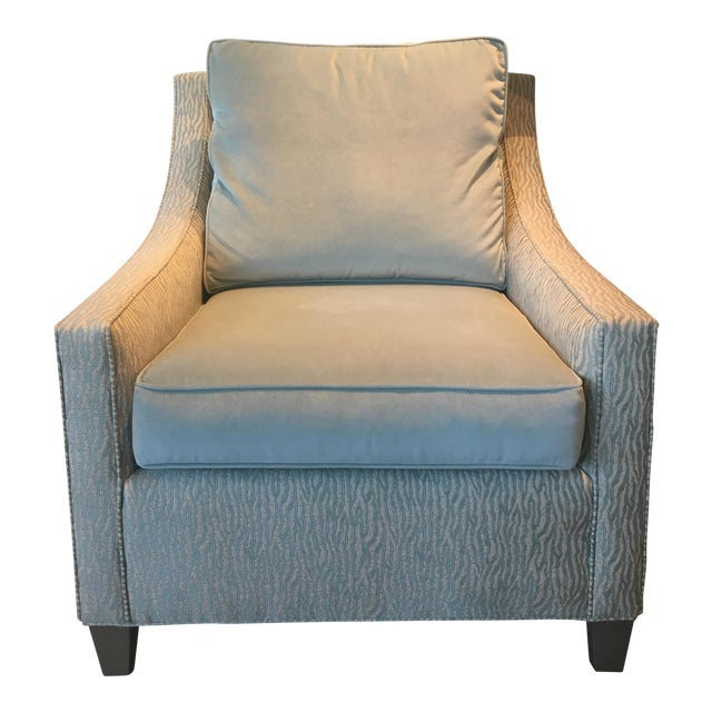 Cox Light Aqua & Zebra Stripe Chair - Image 1 of 5