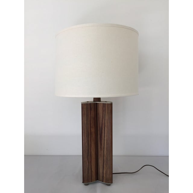 Mid century zebra wood table lamp chairish mid century zebra wood table lamp image 11 of 11 aloadofball Image collections