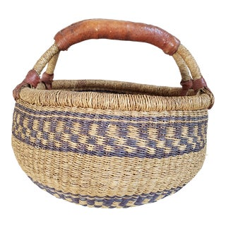 Vintage African Bolga Basket For Sale