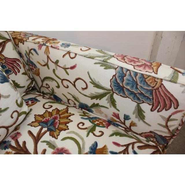 Mid-Century Modern Floral Sofa Settee - Image 5 of 10
