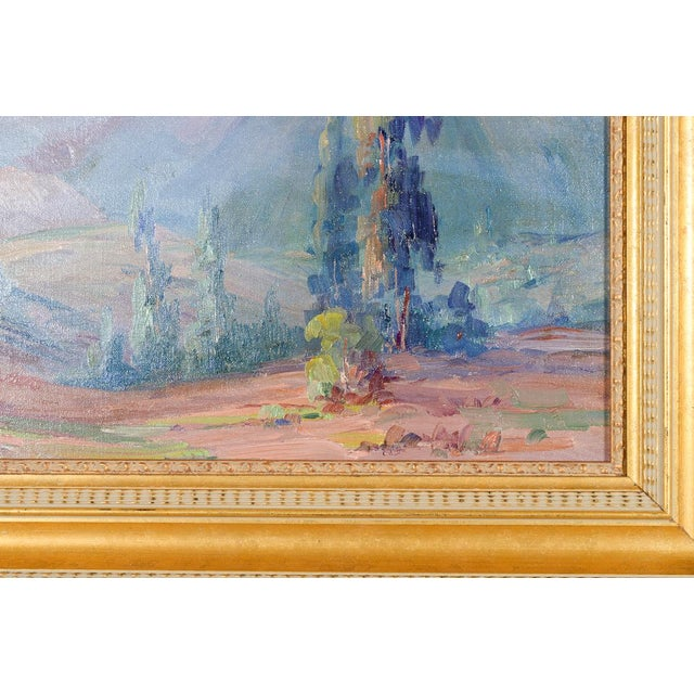 Martella Cone Lane -California Landscape -Oil Painting -Impressionist C.1920s For Sale - Image 4 of 9