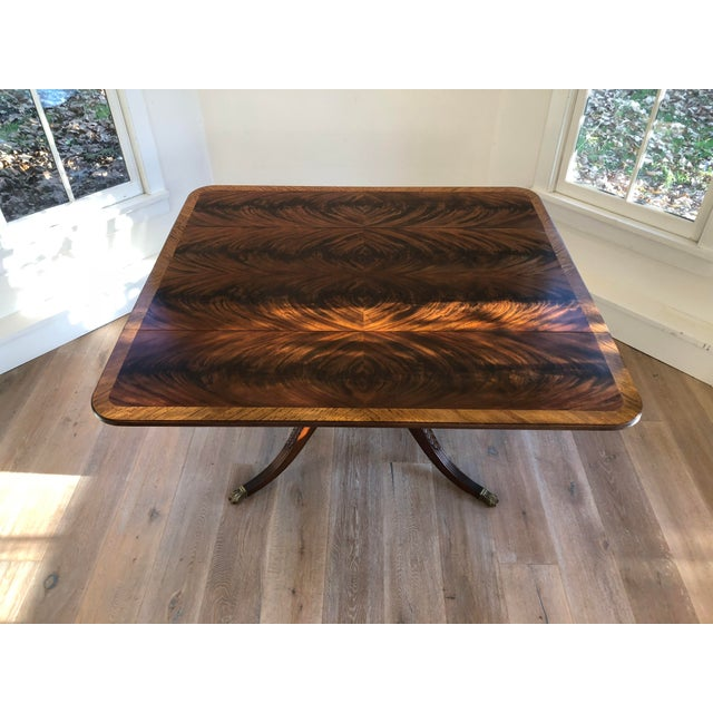 20th Century American Classical Drop-Leaf Library Table For Sale - Image 9 of 10