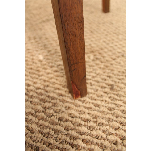 Mid-Century Chrome & Walnut Swivel Bar Stools - A Pair - Image 9 of 11