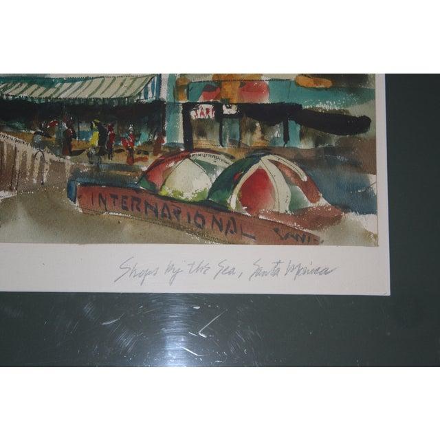 Santa Monica Shoreline Original Watercolor - Image 6 of 6