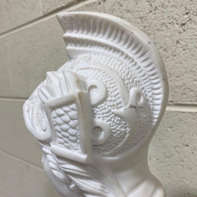 Greek Goddess Athena Marble Bust For Sale - Image 11 of 12