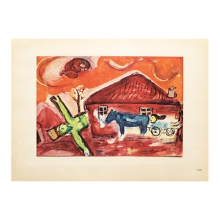"1947 Marc Chagall ""Via Dolorosa"" Original Period Parisian Lithograph For Sale"