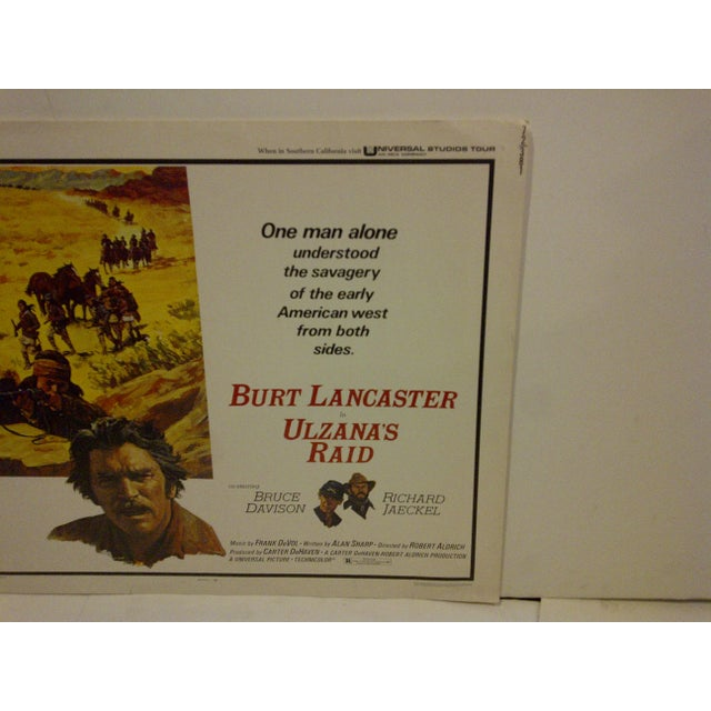 """Ulzana's Raid"" 1972 Vintage Movie Poster For Sale - Image 4 of 5"