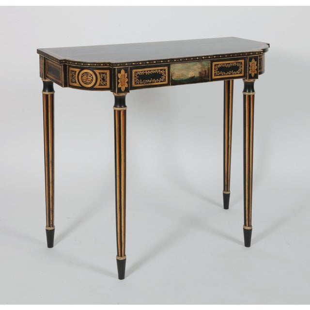 A vintage Baltimore style painted side table, a close replica of a similar table in the American Wing of the NY Met...