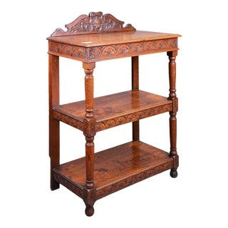 Antique English Wooden Server For Sale