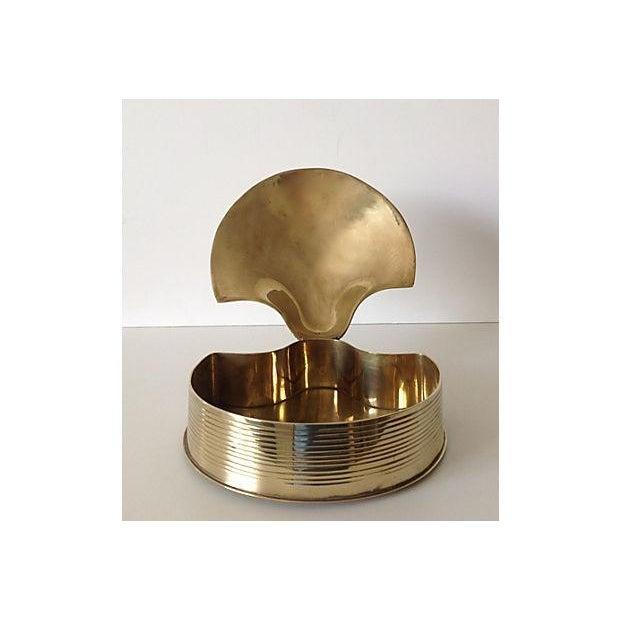 Brass Fanned Shell-Shaped Keepsake Box - Image 8 of 8