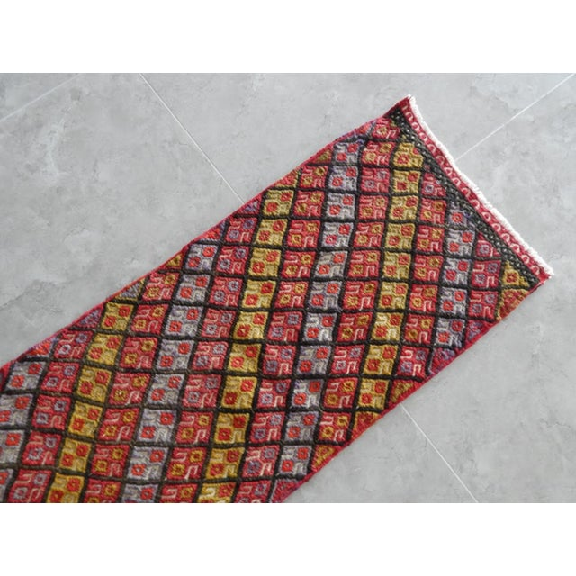 Masterwork Hand-Woven Rug Braided Small Kilim 1′6″ × 4′5″ For Sale - Image 4 of 7
