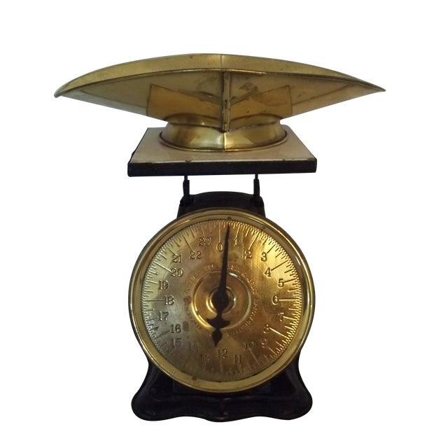 Antique Brass American Kitchen Scales - Image 1 of 5
