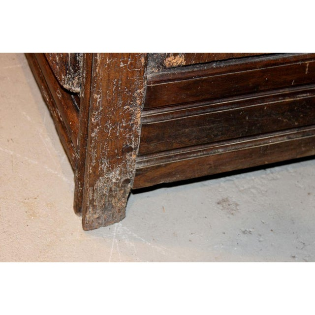 Brown 19th Century French Walnut 4 Door Cabinet For Sale - Image 8 of 11