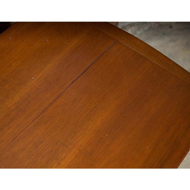 Mid-Century Desk with Wicker Shelf - Image 7 of 11