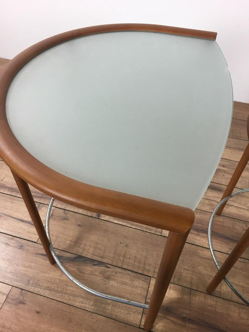 Modern Frosted Glass Nesting Tables   Set Of 3   Image 3 Of 5