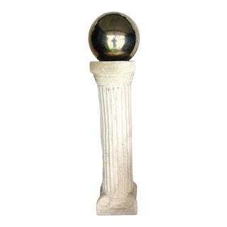 1940s Vintage Silver Sphere and Plaster Column For Sale