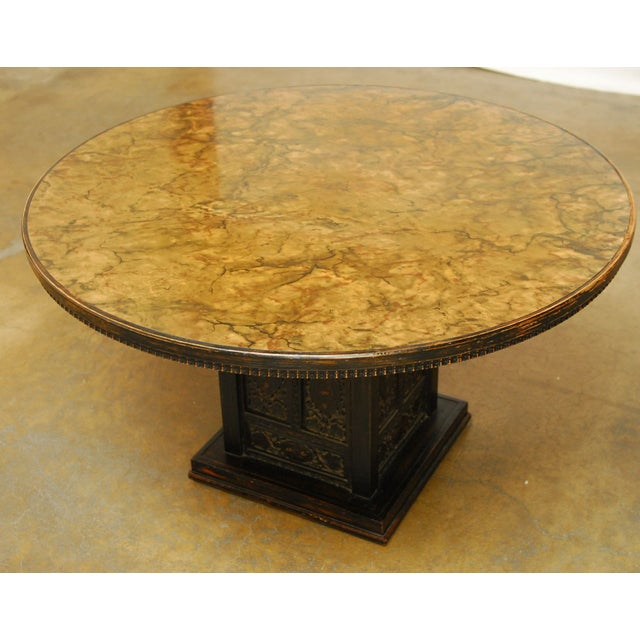 Mid-Century Modern Round Pedestal Table by Ritts For Sale - Image 7 of 7