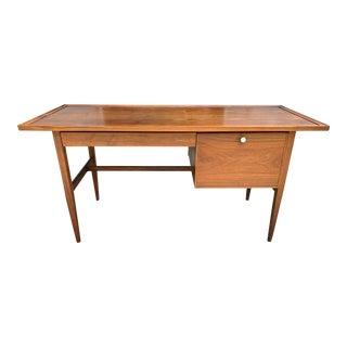 1960s Mid-Century Modern Kipp Stewart for Drexel Declaration Walnut Writing Desk For Sale