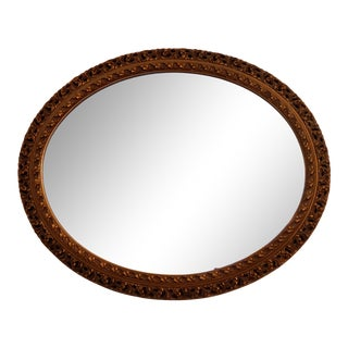 1970s Oval Wall Mirror For Sale
