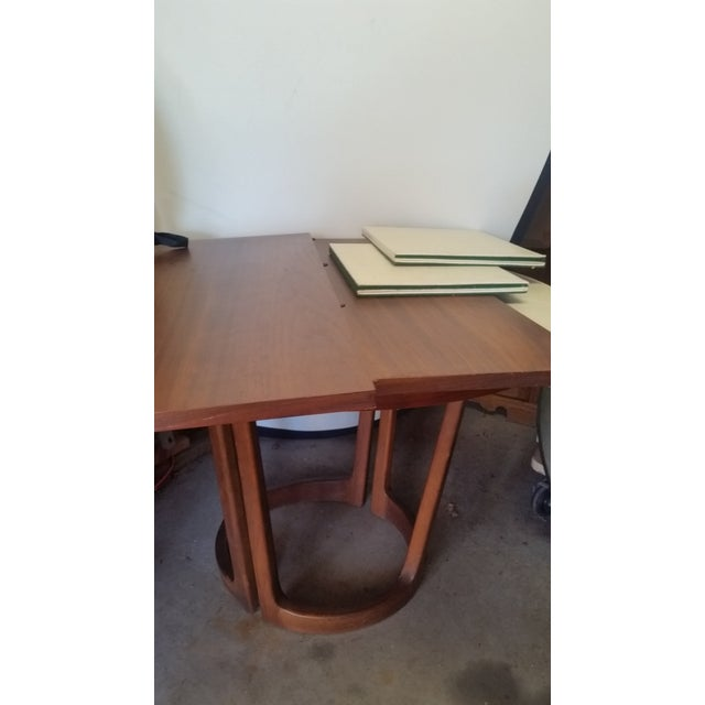 Brown Lane Rhythm Round Dining Table Leaf Pads For Sale - Image 8 of 11