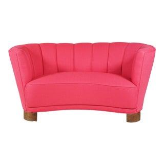 Slagelse Møbelvaerk Danish Pink 'Banana' Sofa For Sale