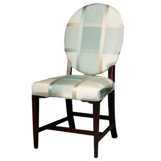 Early 19th Century Regency Oval Back Side Chair For Sale