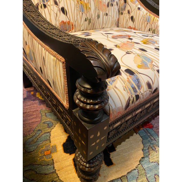 Late 19th Century 19th Century Mother of Pearl Inlay Chairs - a Pair For Sale - Image 5 of 12