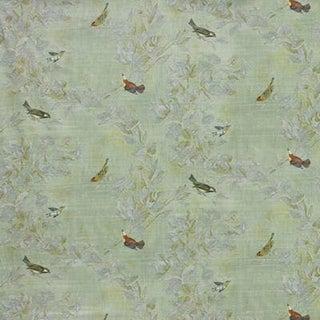 "Traditional Kravet Sestina 5, Sage Green, Morning Glory, Sweet Little Birds - 5.33 Yds + (2) 17"" Rems For Sale"