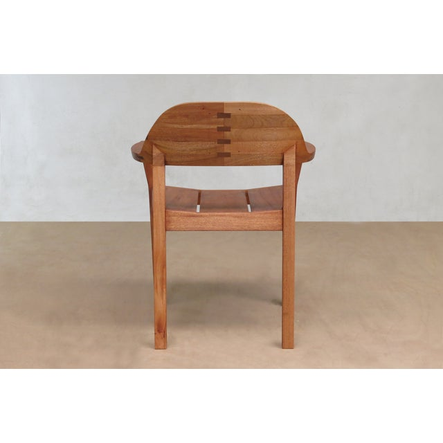 Mid Century Modern Dining or Desk Chairs Sustainably Sourced Royal Mahogany. Xiloa Chairs - 4 - Image 4 of 9