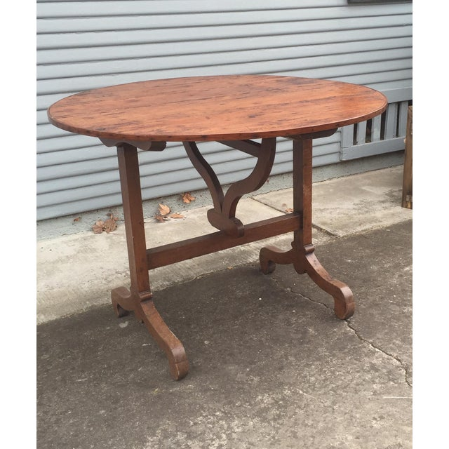 French Antique Winetasting Cellar Table - Image 3 of 5
