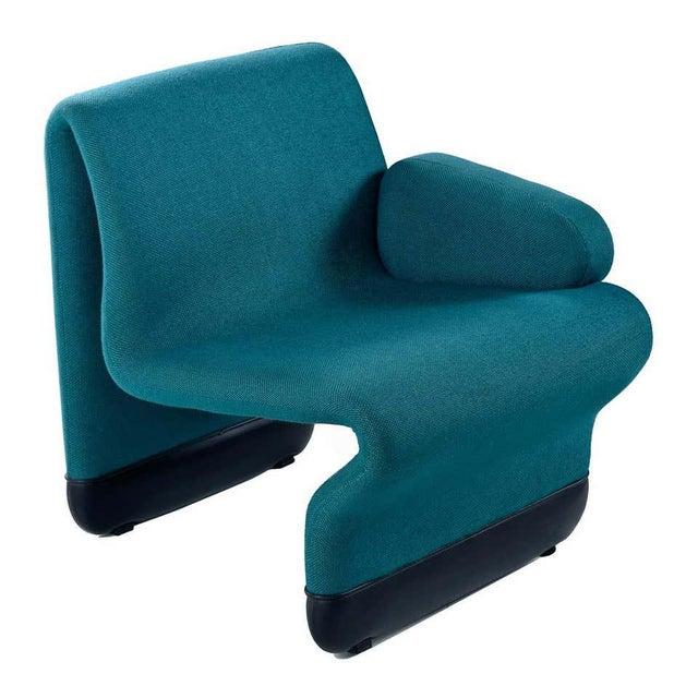 Textile Jan Ekselius Style Modern Modular Teal Tweed Sectional Sofa Seating - Set of 10 For Sale - Image 7 of 13