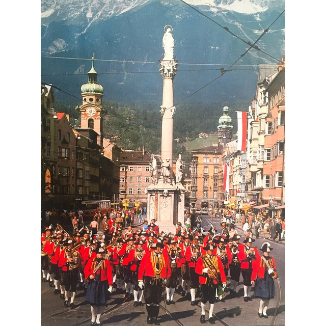 """Rare Vintage 1976 """" Innsbruck Tirol Olympics Winter Games """" Lithograph Print Austria Travel Poster For Sale In Kansas City - Image 6 of 13"""