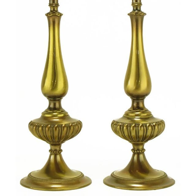 Pair of Rembrandt Lighting Solid Brass Regency Table Lamps - Image 3 of 5