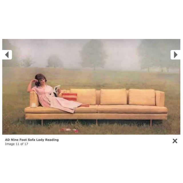 Wood Edward Wormley for Dunbar Sofa 4907 For Sale - Image 7 of 9