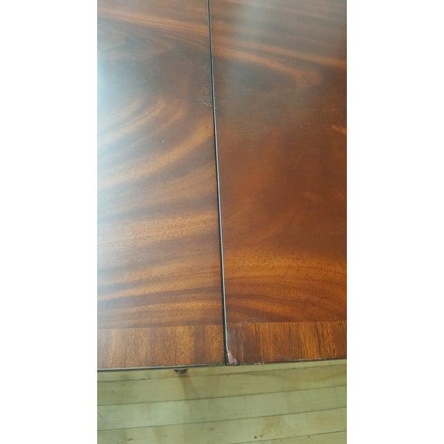 Maitland Smith Mahogany Pembroke Table For Sale - Image 11 of 12