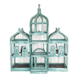 French Style Taj Mahal Green Birdcage For Sale