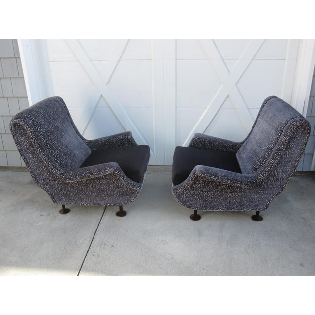 """This is a pair of rare """"Regent"""" chairs designed by Italian architect and former editor of Domus magazine Marco Zanuso...."""