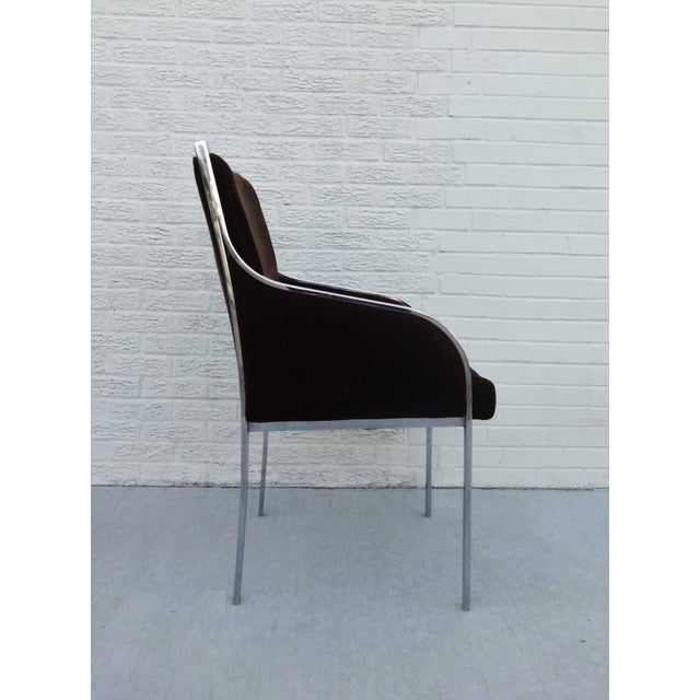 Mid-Century Modern Set of Six Chrome Dining Chairs by Dillingham in the Style of Milo Baughman For Sale - Image 3 of 10