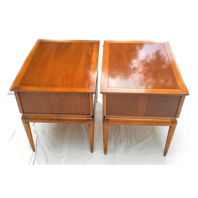 Mid Century Walnut Nightstands - a Pair - Image 4 of 10