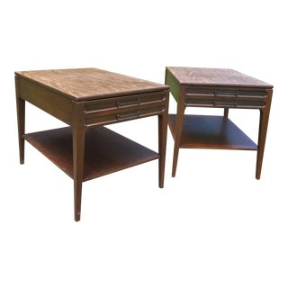 1970s Mid-Century Modern Mersman Walnut End Tables - a Pair ReFabulous ReFabulousReVamped For Sale