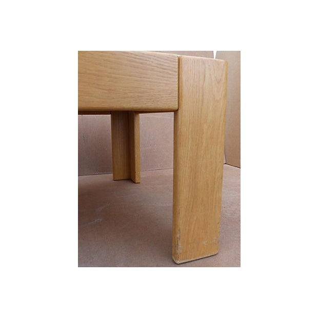 Knoll Beechwood and Marble Coffee Table For Sale - Image 10 of 10