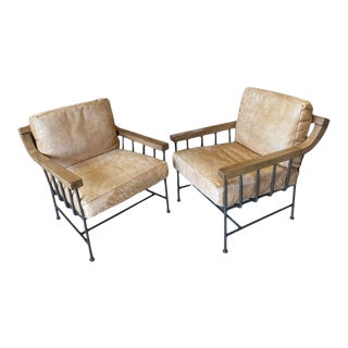 Lee Industries Cowhide Chairs - a Pair For Sale