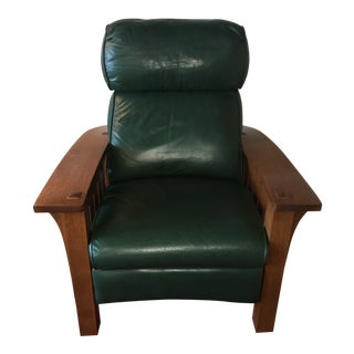 Stickley Bustle Back Bow Arm Morris Recliner For Sale