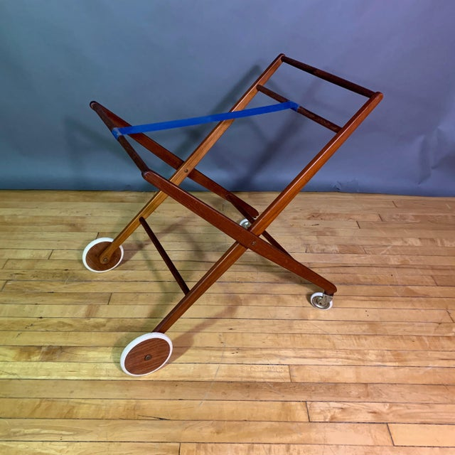 1970s Teak and Black Laminate Serving Trolley For Sale - Image 11 of 12