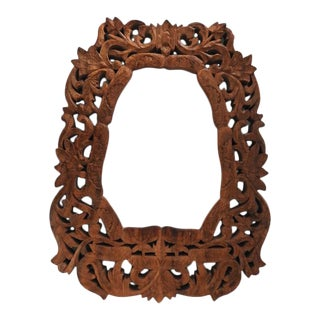 Antique Swedish Solid Wood Ornate Picture/Art Frame For Sale