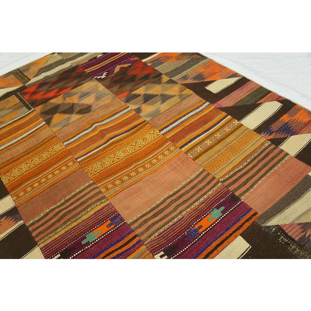 """Contemporary Turkish Kilim Wool Rug - 6'8"""" x 8'6"""" For Sale - Image 3 of 5"""