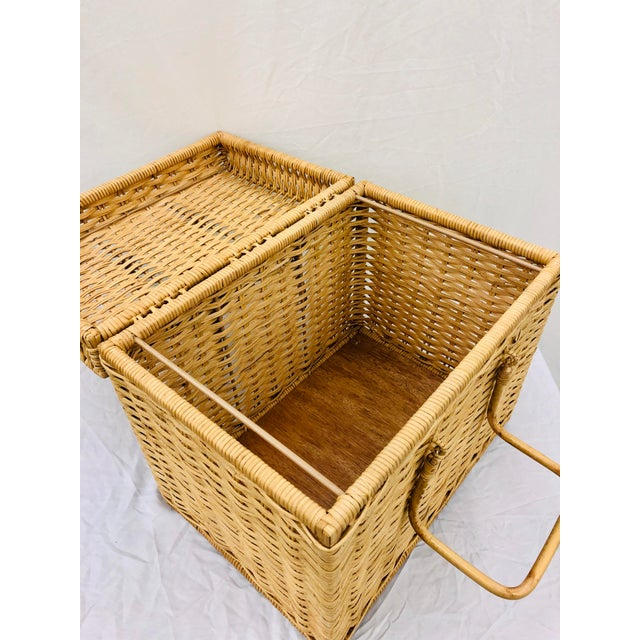 Woven Wicker Filing Box For Sale - Image 11 of 12