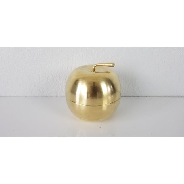 Mid-Century Modern Vintage Solid Brass Apple Box - a Pair For Sale - Image 3 of 10