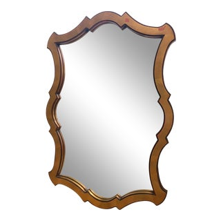 Vintage Arabesque Boho Gilt Wood Framed Mirror For Sale