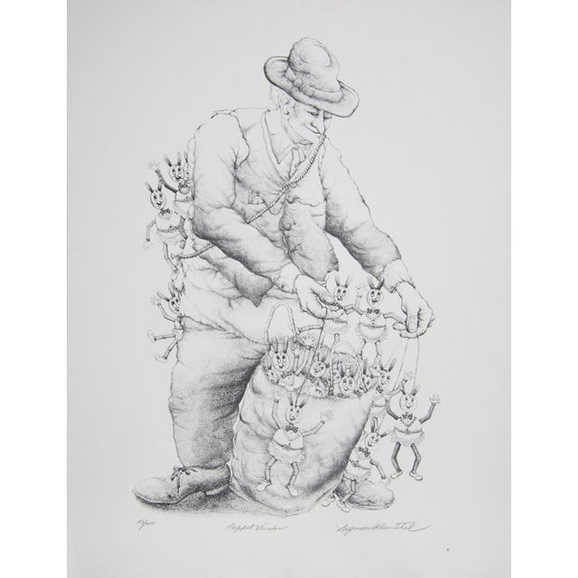 Seymour Rosenthal Lithograph - Puppet Vendor For Sale